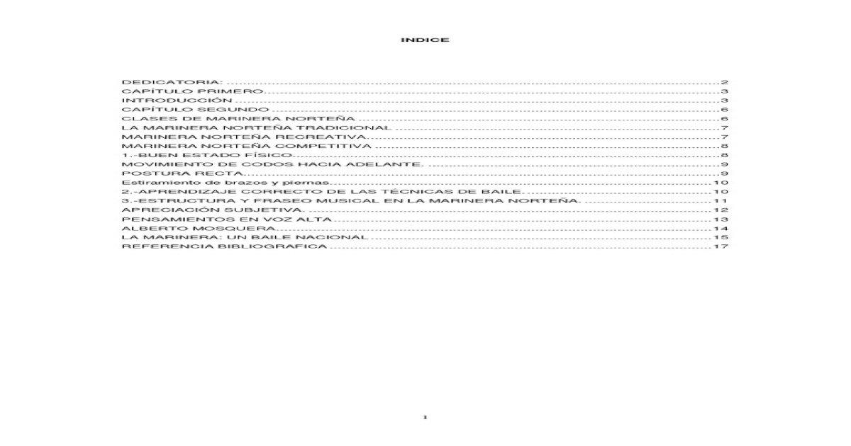 Marinera Peruana Pdf Document